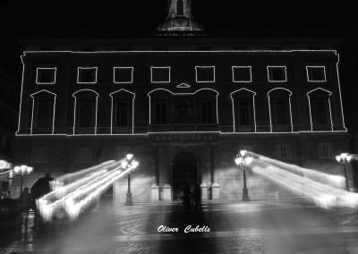 Nocturna de la Generalitat de Catalunya en la plaza de Sant Jaume de BArcelona
