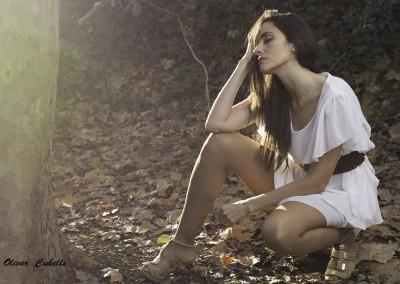 Sesión con la modelo Ana Torres Diaz en el Parc dels Gallecs